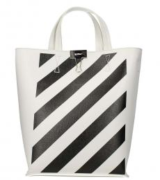 Off-White Black White Diag Medium Tote