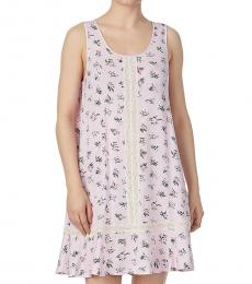 Kate Spade Pink Lace-Insert Floral A-Line Chemise