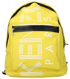 Kenzo Yellow Logo Large Backpack