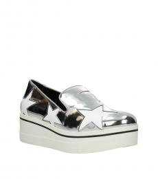 Silver Stars Leather Loafers
