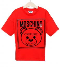 Moschino Little Boys Red Logo T-Shirt