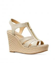 Michael Kors Pale Gold Berkley Espadrille Wedges