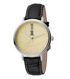 Just Cavalli Black Logo Watch