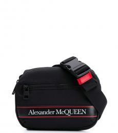 Alexander McQueen Black Logo Belt Bag