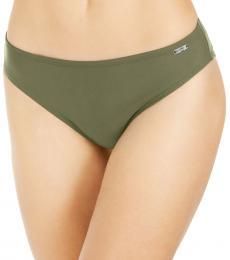 DKNY Olive Solid Hipster Bikini Bottom