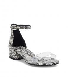 Vince Camuto Little Girls Grey Snake Print Pascala Heels