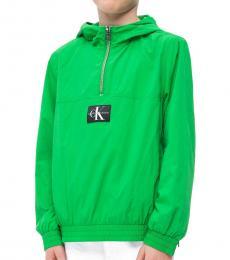 Calvin Klein Little Boys Green Monogram Logo Anorak
