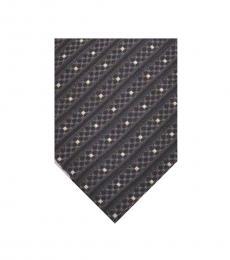 Armani Collezioni Black Geometric Stripes Tie