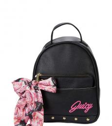 Juicy Couture Black In Bloom Small Backpack