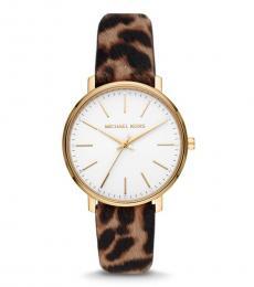 Michael Kors White Pyper Logo Watch