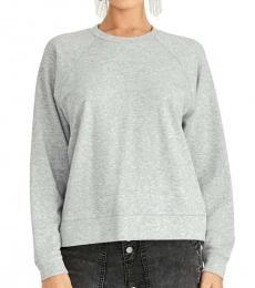 Rachel Roy Heather Grey Eyelet Back Sweatshirt