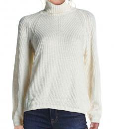 Michael Kors Bone Turtleneck Sweater Top