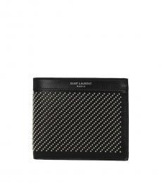 Saint Laurent Black Studded Wallet