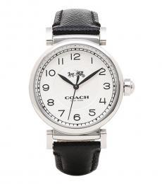 Coach Black Logo Silver Dial Watch