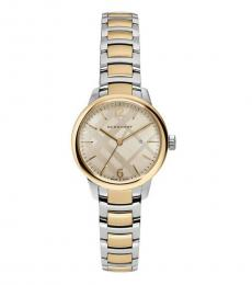 Burberry Golden Two Tone Watch