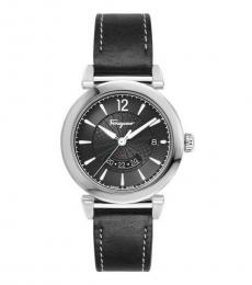 Salvatore Ferragamo Black Round Dial Watch