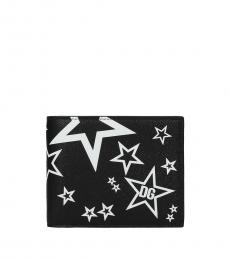 Dolce & Gabbana Black Star Printed Wallet