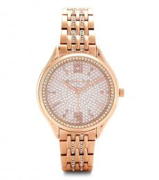 Michael Kors Rose Gold Alloy Crystal Watch