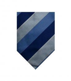 Burberry Blue Grey Stripe Tie