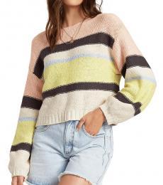 Lemong Striped Cotton Crop Sweater