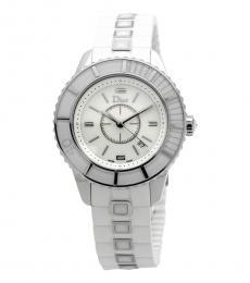 Christian Dior White Christal Sapphire Watch