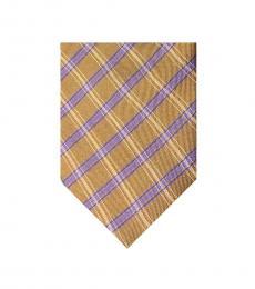 Zegna Mustard Dapper Silk Tie
