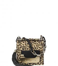 Diane Von Furstenberg Leopard Print Harper Mini Shoulder Bag