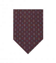 Bordeaux Dapper Silk Tie