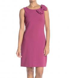 Betsey Johnson Rose Sleeveless Scuba Bow Dress