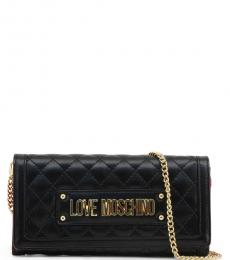 Love Moschino Black Quilted Mini Shoulder Bag
