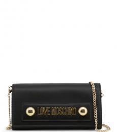 Love Moschino Black Logo Plate Clutch
