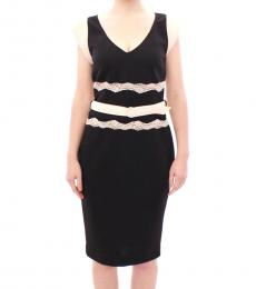 Cavalli Class Black Lace Sheath Dress