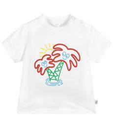 Stella McCartney Baby Boys White Graphic T-Shirt