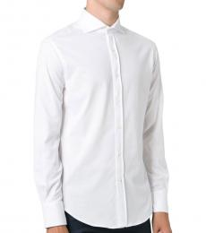 White Spread Collar Shirt