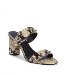 Snake Print Amelthea Studded Heels