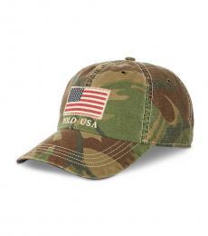 Ralph Lauren Camo American Flag Baseball Cap