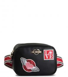 Black Patches Small Belt Bag