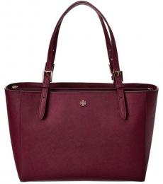 Tory Burch Garnet Emerson Small Buckle Large Tote