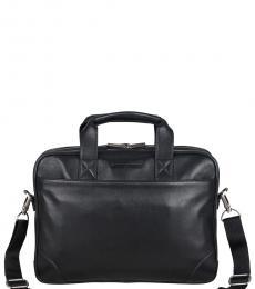 Ben Sherman Black Double Compartment Large Briefcase Bag