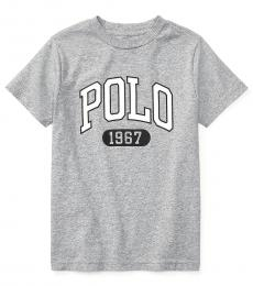 Ralph Lauren Little Boys Andover Heather Jersey Graphic T-Shirt