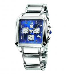 Silver Blue Dial Chronograph Watch
