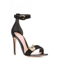 Alexander McQueen Black Butterfly Jewel Heels