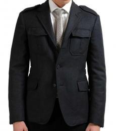 Prada Dark Grey Three Button Jacket