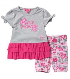 Betsey Johnson 2 Piece Top/Shorts Set (Little Girls)