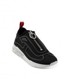 Black Nickel Nilli Zipper Sneakers