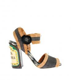 Dolce & Gabbana Black LED Lights Antica Heels