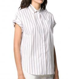 White Cotton Striped Shirt
