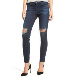 Dark Blue Legging Distressed Ankle Jeans