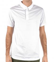 Emporio Armani White Regular Fit Polo