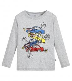 Stella McCartney Boys Grey Graphic T-Shirt
